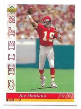 JOE MONTANA (SAN FRANCISCO 49ERS) - UPPER DECK JUMBO FOOTBALL CARDS - 2 CARD LOT