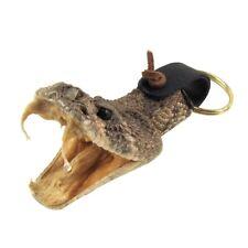 Eastern Diamondback Rattlesnake Head Keychain Real Taxidermy Car Key Ring Chain