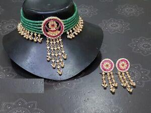 Wedding Jewelry Kundan Choker Necklace Indian Jewelry for Pakistani Brides 2020