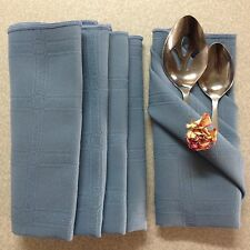 VTG Dark Dusty Blue Table Napkins Linens. Damask. Lot of 5. NO STAINS!