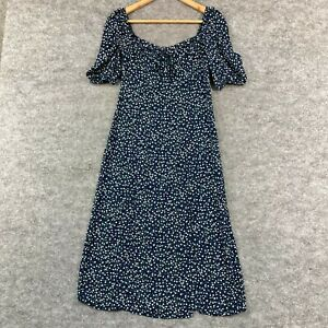 Princess Polly Womens Dress Size 6 Blue Floral Short Sleeve Boat Neck 262.22