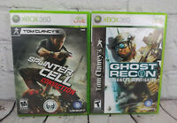 Tom Clancy's Ghost Recon & Splinter Cell Conviction (Microsoft Xbox 360) Lot