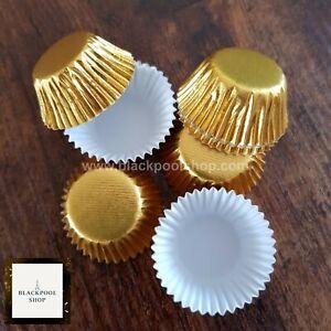 60 x PETITE FOUR CASES SWEETS GOLD FOILED Colour Design FESTIVE Truffles xmas