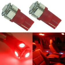 2pcs T10 194 168 2825 5050 LED 5-SMD Super Bright LED Light Car Bulb Lamp Red