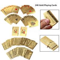 24K Jeux de 54 Cartes à jouer Cartes Poker en Or Playing Cards JEUX DE SOCIETES