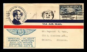 DR JIM STAMPS US SPRINGFIELD ILLINOIS STATE FAIR SPECIAL FLIGHT AIR MAIL COVER