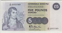 P212b SCOTLAND CLYDESDALE BANK 1983 FIVE POUND BANKNOTE IN MINT CONDITION.