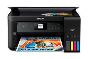 Epson EcoTank ET-2750 Wireless Color All-in-One Supertank Printer - Refurbished