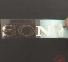 1x  Sony Silver Words Logo Sticker Tvs Play Station 30mm x 5mm Approx