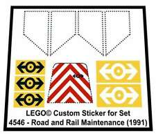 Lego® Custom Sticker for Train 9V set 4546 - Road and Rail Maintenance (1991)
