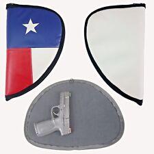 Leather pistol gun case - Lonestar Texas flag handgun holder rug