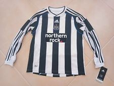 NEW Newcastle United FC Football Home Long Sleeve Shirt 2009-2010 (M Youths)