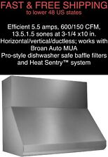 *FREE SHIPPING* New Broan Elite 600 CFM Wall-Mount Canopy Stainless Range Hood