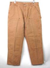 Mint Carhartt B136 BRN Carpenter Pants Double Front Dungaree Mens Size 40 X 30