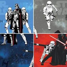 100% Cotton Fabric Disney Star Wars Kylo Ren & Storm Troopers Curtain Upholstery