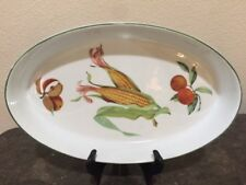 "Royal Worcester OVAL BAKER, ""Evesham Vale"" CORN/ORANGES/APPLES"
