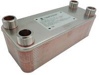 """Echangeur de chaleur a plaque Acier INOX chauffage 175-450kW NORDIC TEC 1"""" Ba-32"""