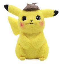 "2019 Genuine Detective Pikachu Plush Doll Stuffed Toy Movie 9"" Gift new"