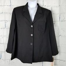 Catherines (linda karen) Plus size 22W Petite Black Blazer 3 button lined NWTs
