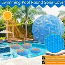 8/10/12/15FT Round Blue Solar Cover Sheet For Above Ground C8J3 Pools I9N2