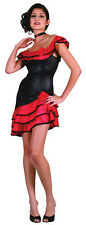 SPANISH LADY COSTUME FANCY DRESS ADULT, SENORITA, RUMBA, MEXICAN