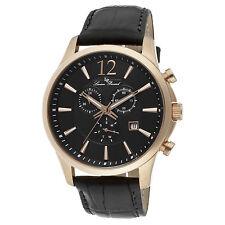 Lucien Piccard 11567-RG-01 Black Genuine Leather and Dial Men's Quartz Watch