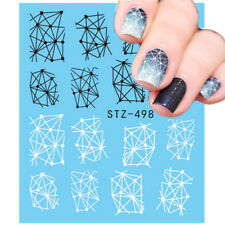 Nail Art Water Decals Stickers Transfers Geo Aztec Pattern Tribal Shapes (498)