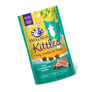 Wellness Kittles Crunchy Natural Grain Free Cat Treats Tuna & Cranberries