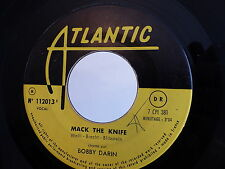BOBBY DARIN Mack the knife / that's all ATLANTIC 112013