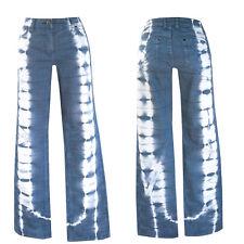 70s Batik  Jeans Top ++W29-Gr. 38/19 ++TOP Jeans Top +   70er Style  Jeans Blau