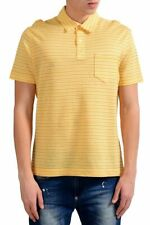 Malo Men's Striped Linen Short Sleeve Polo Shirt US M IT 50