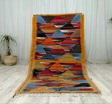 "Moroccan Handmade Minute Sahara Rugs 3'4''x6'4""Berber Tribal Wool Geometric Rug"