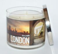 NEW BATH & BODY WORKS LONDON TEA LEMON SCENTED CANDLE 3 WICK 14.5 OZ LARGE SUGAR