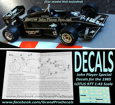 Formula 1 auto COLLECTION LOTUS 97T 1985 JPS ACQUA decalcomanie scivolanti scala 1:43 Ixo F1