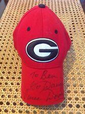 Vince Dooley Autographed Go Dawgs! Georgia Hat