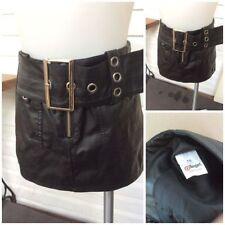 Faux Leather Petite Mini Skirts for Women