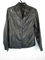 Preston York Genuine Lamb Skin Soft Leather Jacket Sz XS Black Lined
