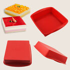 """BIG Square Cake Pan Bread Chocolate Pizza Baking Tray Silicone Mold (7.3""""x1.6"""")"""