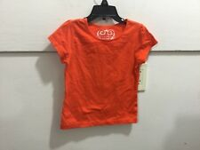 Youth girls size 5/6 s/s orange pullover top