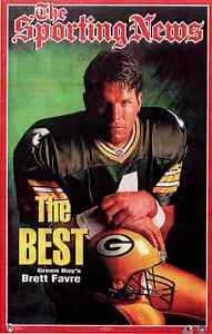 """Brett Favre """"The Best""""  Sporting News GB Packers Norman James Poster OOP"""