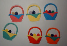 10 Easter Baskets Toppers (Quickutz) Embellishments Self Adhesive