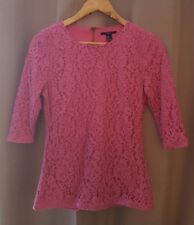 Forever 21 Floral Pattern Blouse Top Pink Size Medium