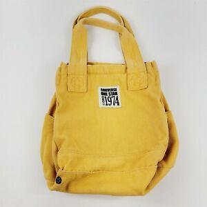Converse One Star Circa 1974 Canvas Tote Bag Purse Handbag Yellow Cotton Denim