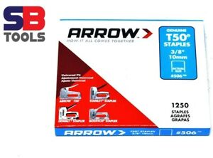 ARROW T50 STAPLES 6MM 8MM,10MM,12MM,14MM, VARIOUS SIZE ARROW STAPLE PACK STAPLES