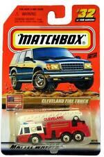 2000 Matchbox #32 Matchbox USA Cleveland Fire Truck with 2000 logo