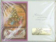 Vintage Sealed Hallmark Christmas Cards Package of 25 New Old Stock