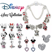 More details for disney movie collection genuine 925 silver bracelet charm for women & gift bag