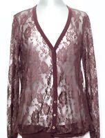 SCERVINO STREET Cardigan Strickjacke Shirt Spitze Lace braun brown NEU! NP 240€!
