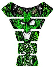 Fast as Hell Devil Green Motorcycle 3D Gel Gas tank pad tankpad protector Decal
