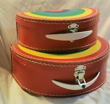 Rainbow Boxes Set Of Two Vintage